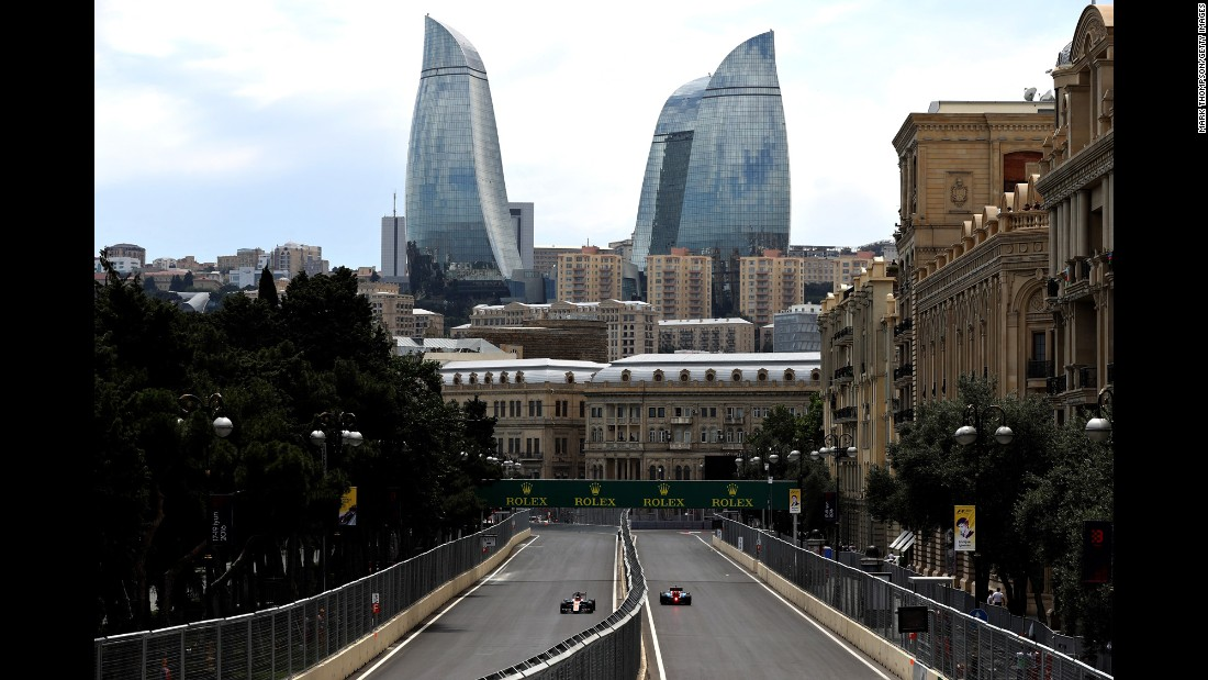 Formula One practice is held in Baku, Azerbaijan, on Friday, June 17.