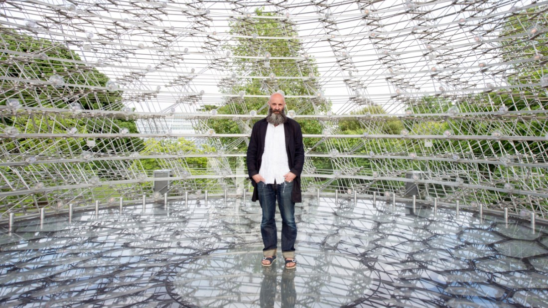 The artist Wolfgang Buttress (pictured) originally crafted the installation for the 2015 Milan Expo.