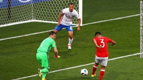 Neil Taylor made it 2-0 with just 20 minutes gone as Wales made a rapid start.