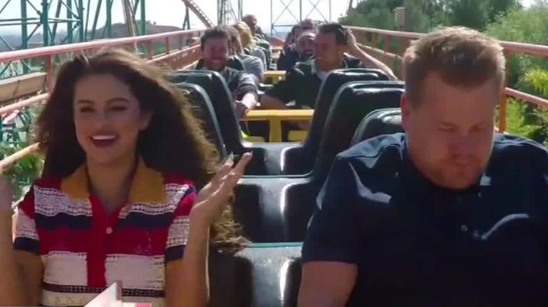Selena Gomez takes 'Carpool Karaoke' on a rollercoaster