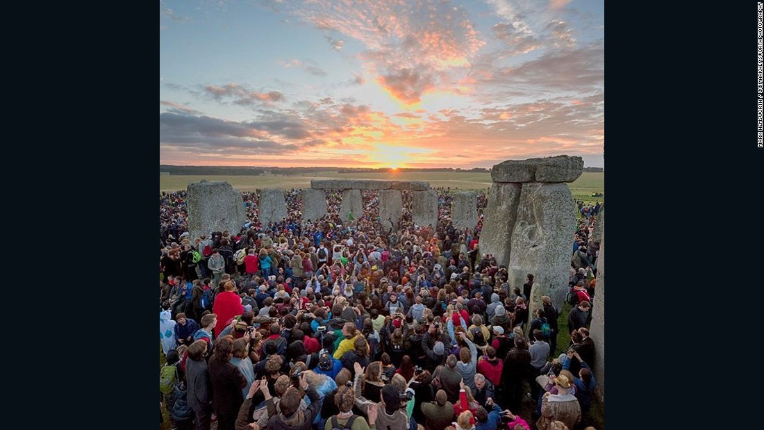 "Thousands greeted the sun at Stonehenge in the United Kingdom to celebrate the longest day of the year, known as the summer solstice. ""There was drumming and dancing all night,"" said photographer Mark Hemsworth."