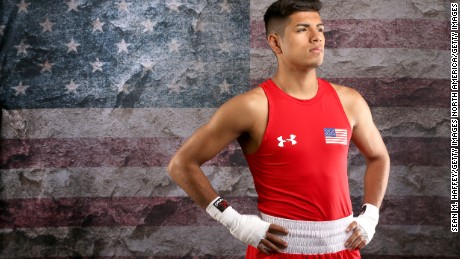 BEVERLY HILLS, CA - MARCH 09:  Boxer Carlos Balderas poses for a portrait at the 2016 Team USA Media Summit at The Beverly Hilton Hotel on March 9, 2016 in Beverly Hills, California.  (Photo by Sean M. Haffey/Getty Images)