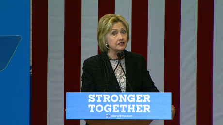 Clinton tries to attack Trump on his campaign strength