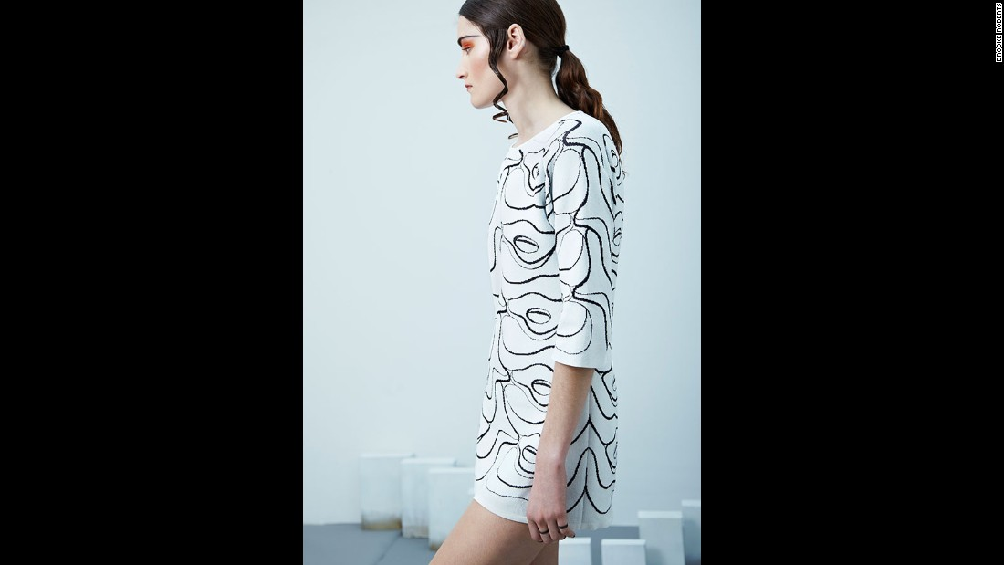 Roberts often combines the scans with other designs or concepts. For her Autumn-Winter 2014 collection she used MRI scans and works by Dutch artist MC Escher.
