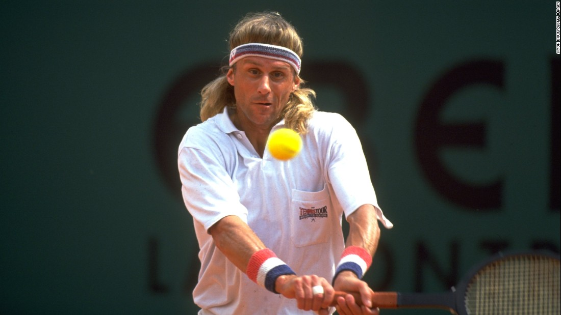 "In 1991 the ""Ice Man"" made a comeback at the Monaco Open in Monte Carlo. When all the other players were using modern graphite rackets, the Swede turned up with an old wooden one and lost in straight sets to Spain's Jordi Arrese."