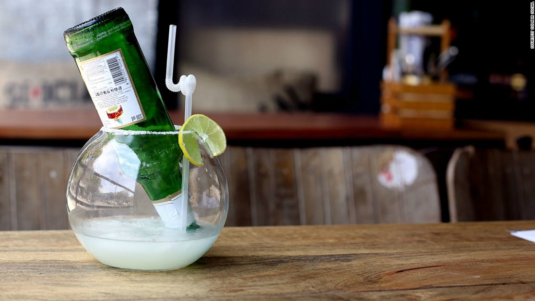 Some bars, like Colaba Social, accent cocktail lists with surrealist touches, such as the dream-like margarita-beer cocktail titled Two Lost Souls Swimming in a Fish Bowl.