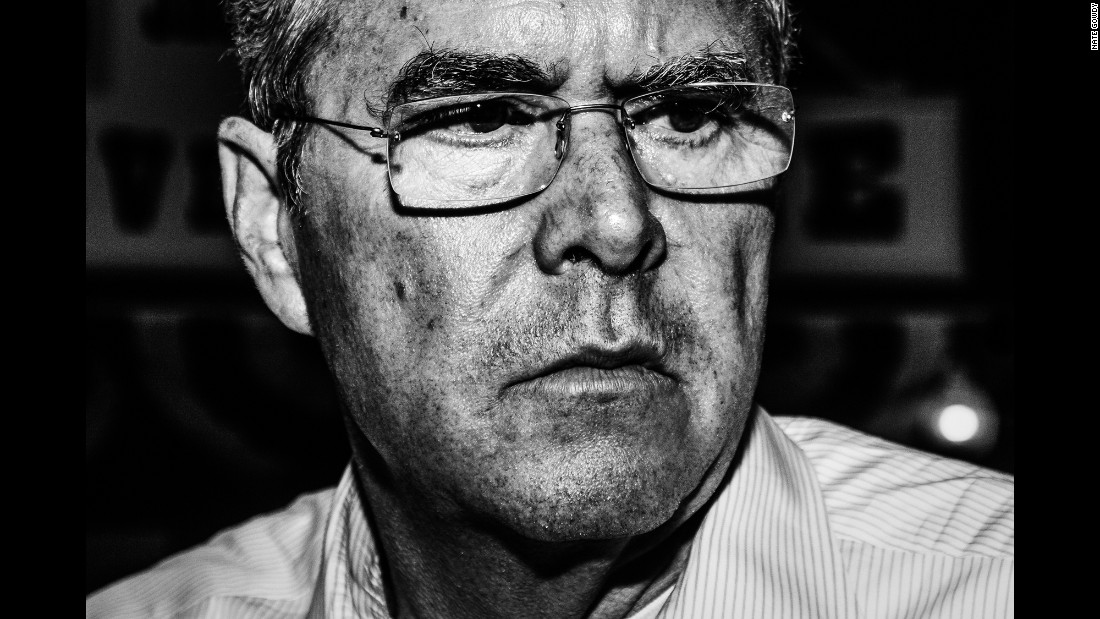 Jeb Bush attends a town hall in Mason City, Iowa, in September.