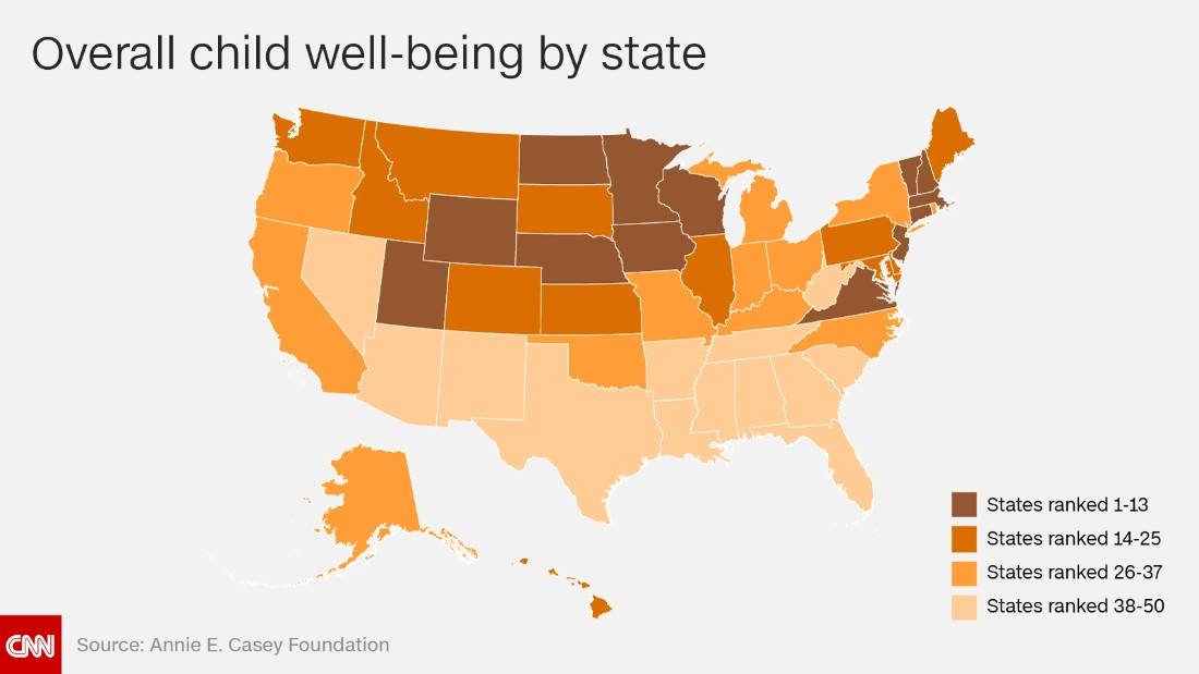 the best and worst states to raise children in cnn com