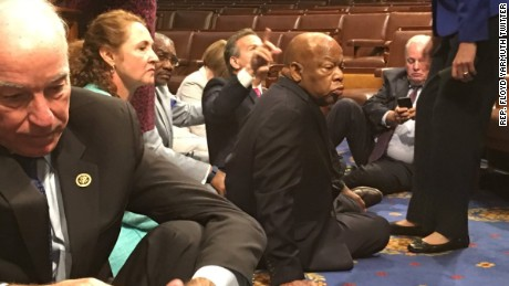 House Democrats hold sit-in on gun control