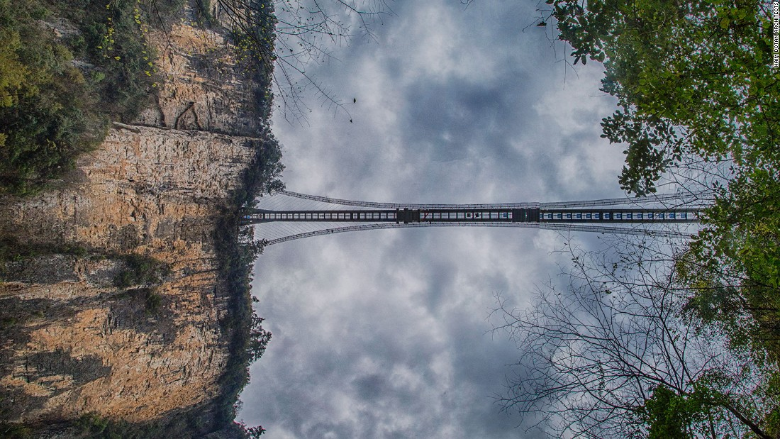 "The Zhangjiajie Grand Canyon Glass Bridge is currently scheduled for completion in <a href=""http://edition.cnn.com/2016/01/28/travel/zhangjiajie-glass-bridge-construction/"" target=""_blank"">January 2017</a>."