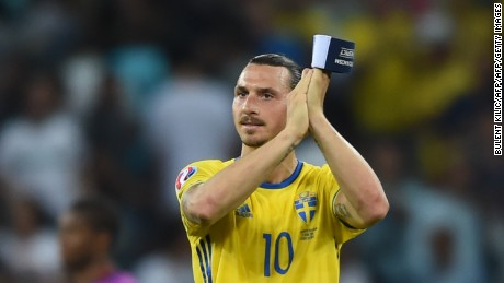 Zlatan Ibrahimovic finished his international career with a 1-0 defeat by Belgium.