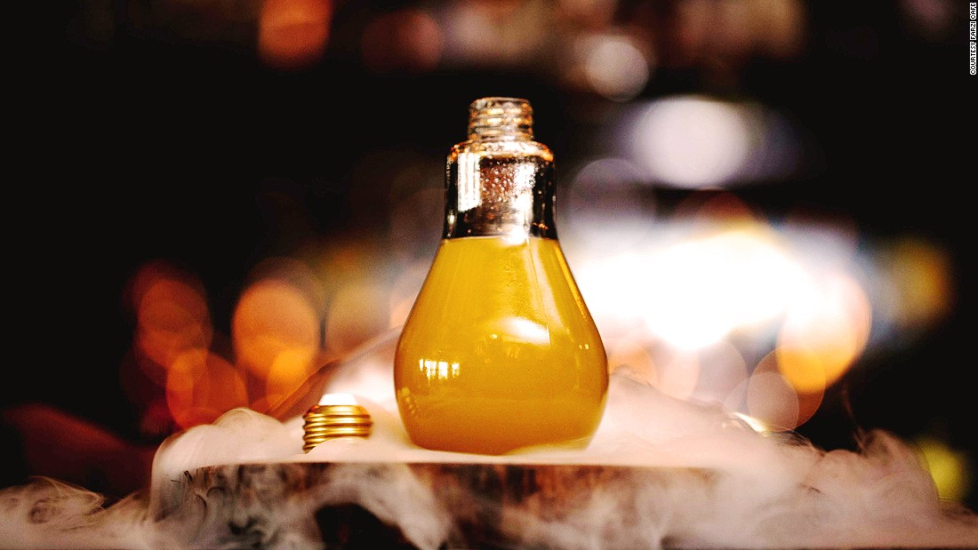 Farzi's mixologists aren't adverse to a little boozy theater. Like all good ideas, the Farzi Idea comes with a physical light bulb.