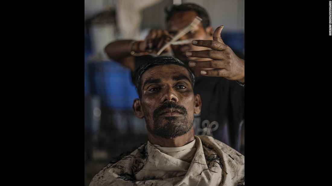 "For Gutierrez, India has the best barber culture. ""Indian men are quite vain so they like to go to the barber shop a lot.  A lot of them don't shave at home, they just go to the shop because it's really cheap."""