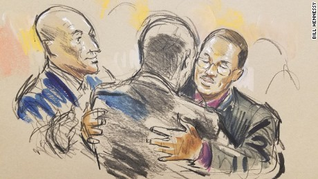 Courtroom sketch: Caesar Goodson's reaction after verdict