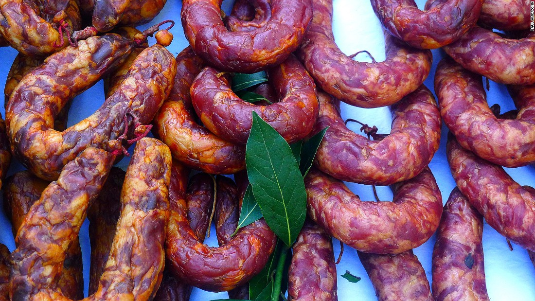 Mainland Europe's westernmost country has its share of unusual food. These are morcela doce, a sugared blood sausage.