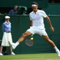 federer through legs wimbledon 2015