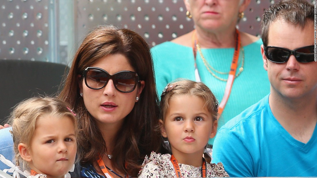 His daughters are often seen at tournaments -- here with their mother, herself a former tennis pro, in Madrid in 2013. The boys, born in 2014, also accompany the family on tour.