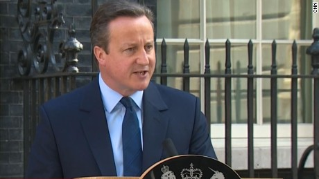 "David Cameron speaks outside 10 Downing Street after Britain voted for a ""Brexit"" from the European Union."
