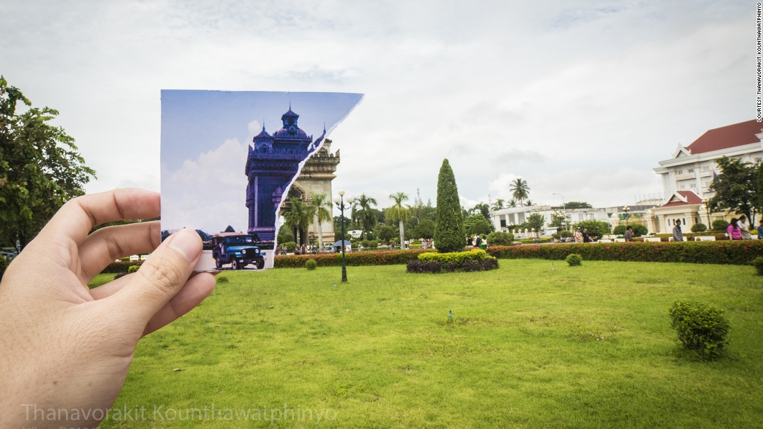 """Patuxai"" means ""Victory Gate."" Situated in Patuxay Park, it is dedicated to the Laotians who died in the battle for independence from France."