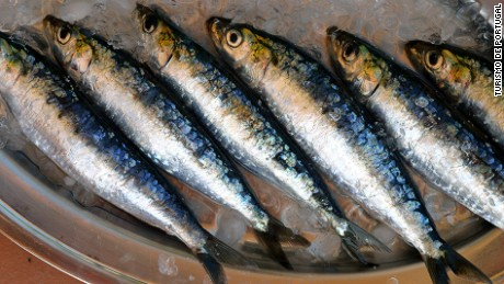Fresh sardines abound in summer.