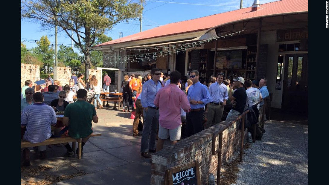 Bay Street Biergarten in Charleston, South Carolina, combines the best elements of the traditional beer garden with the unique flavor of the South.
