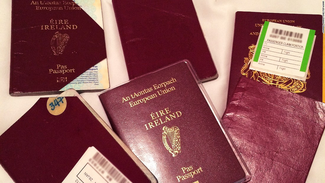 After visiting almost 200 countries in the last decade, Ward has stamped his way through six passports.