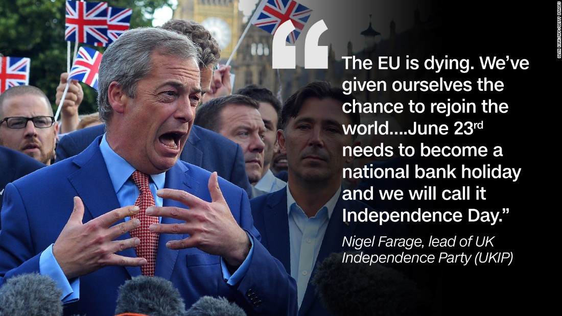 Quote graphic Nigel Farage