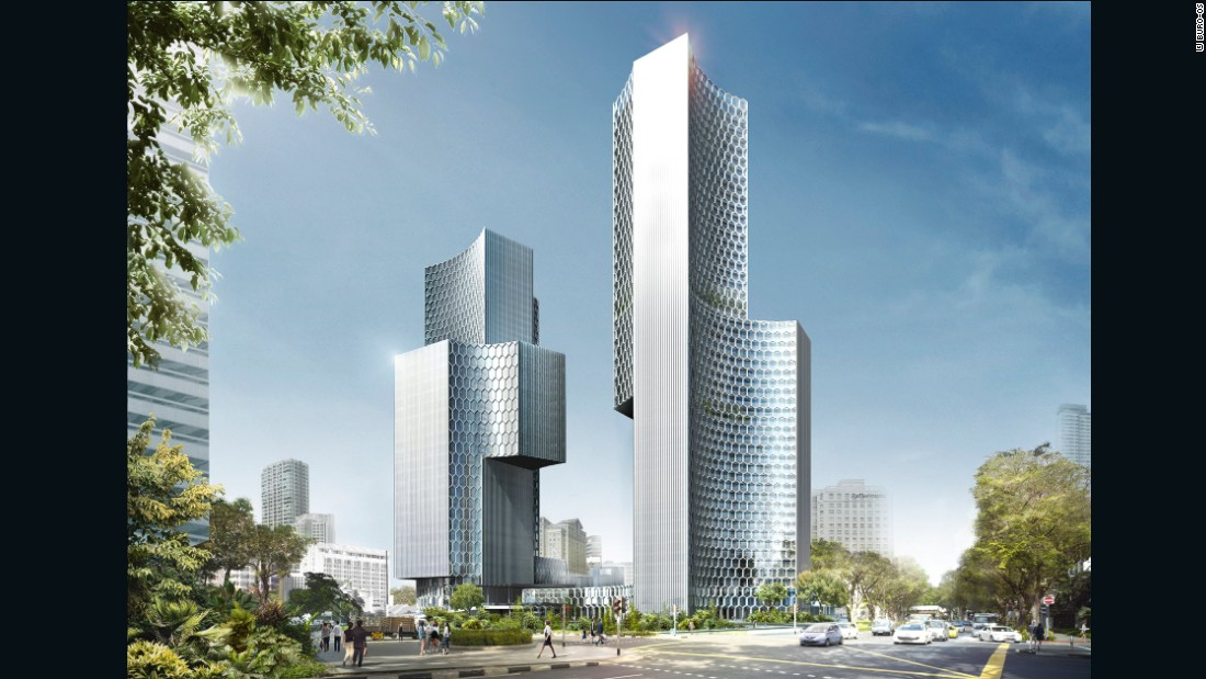 Scheeren designed DUO, a twin tower, mixed-use, high rise development for a Malaysian-Singaporean joint venture. The architect intended for the buildings to be defined by the spaces they create.