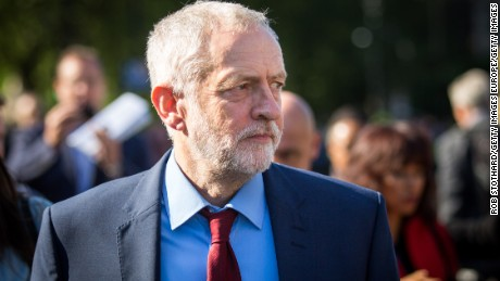 British Labour leader Jeremy Corbyn is battling to save his position.
