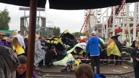 "The ""Tsunami"" roller coaster derailed on Sunday afternoon"