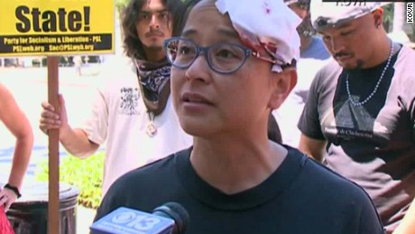 California capitol stabbing rally victim intv _00012817
