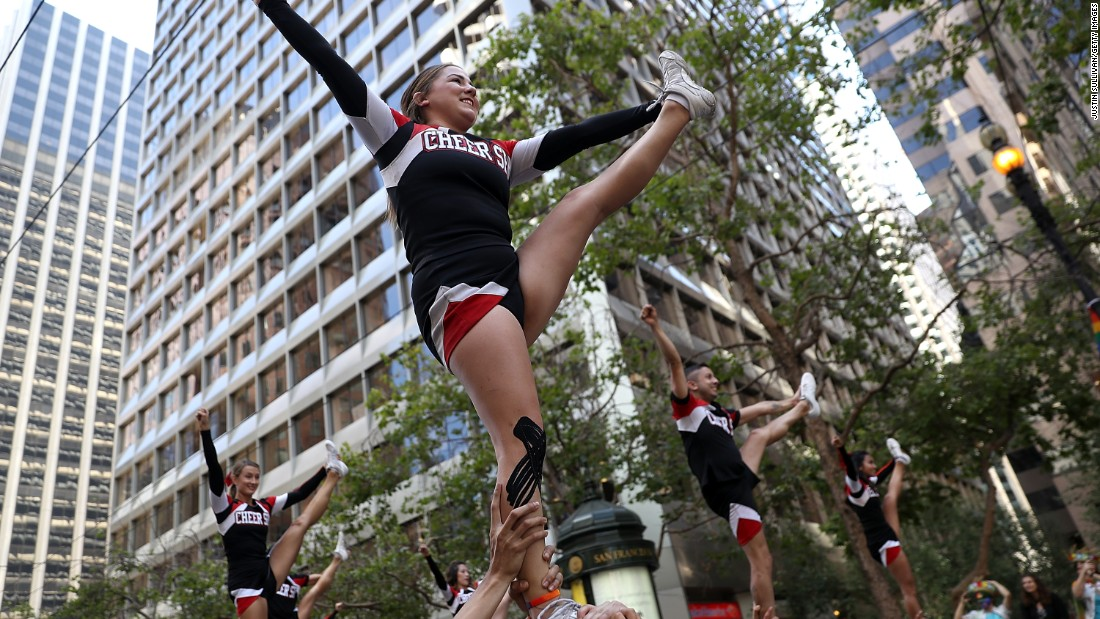 Cheer San Francisco performs during the San Francisco parade.