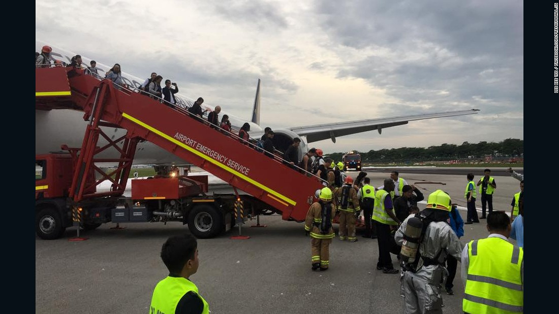 All passengers were safely evacuated after the blaze.