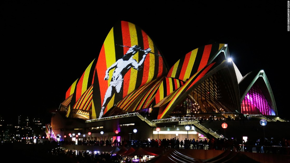 Every year, stunning lights are projected onto the Sydney Opera House as part of the annual Vivid Sydney festival.