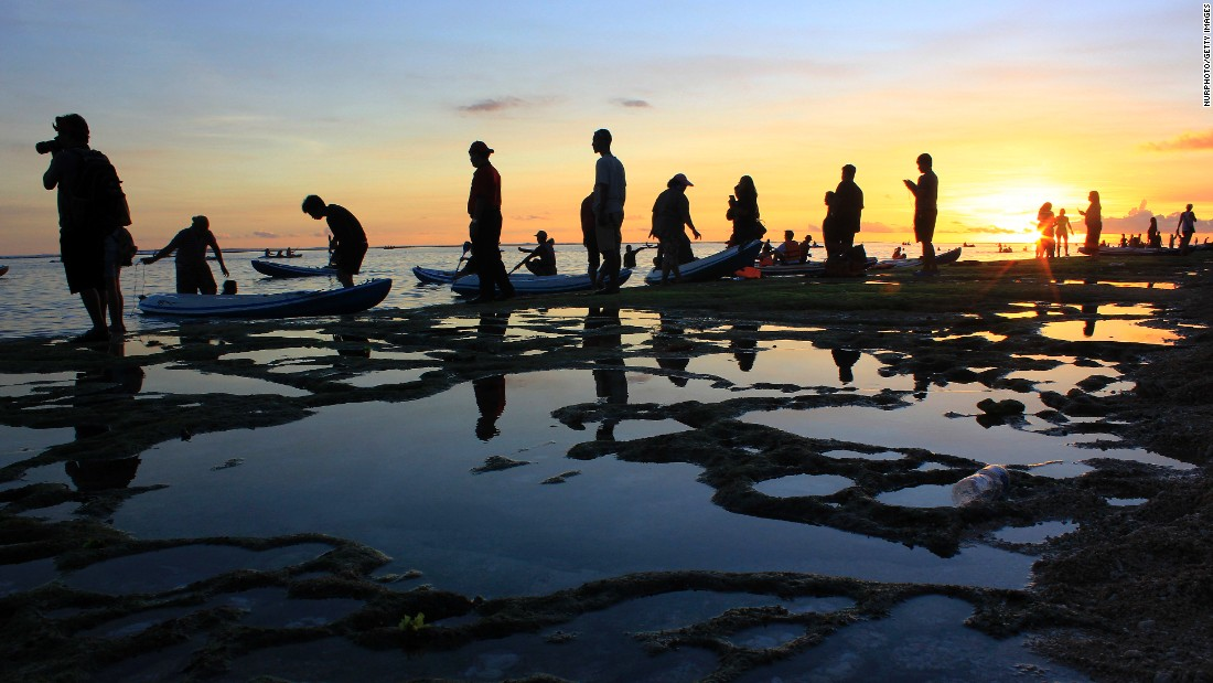The Indonesian island of Bali offers miles of coastline, sacred Hindu temples and an active volcano.<br />