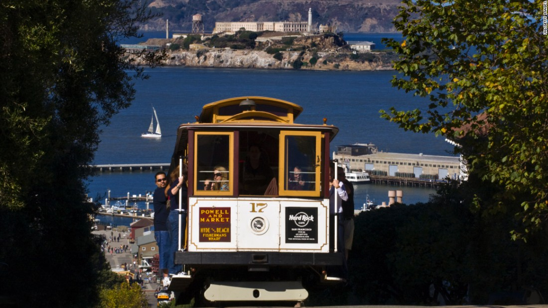 "San Francisco offers a booming farm-to-table restaurant scene as well as the iconic cable cars and <a href=""https://www.nps.gov/alca/index.htm"" target=""_blank"">Alcatraz Island,</a> a National Park Service site."