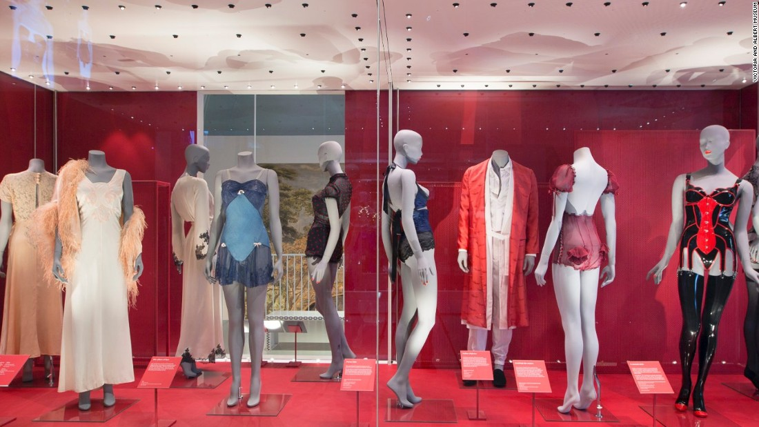 "Installation view of <em>Undressed: A Brief History of Underwear</em>, on show at the V&A until March 2017. ""Fashion has always been a pillar for us, and our fashion curators are very active,"" says Nicolas Coleridge, president of Condé Nast and chairman of the V&A. ""There is no doubt for us that certain elements and moments in fashion history are art, pure and simple."""