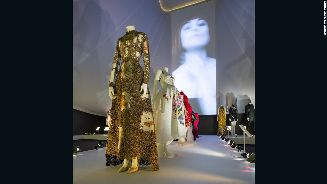 Installation view of <em>The Glamor of Italian Fashion 1945-014</em>.
