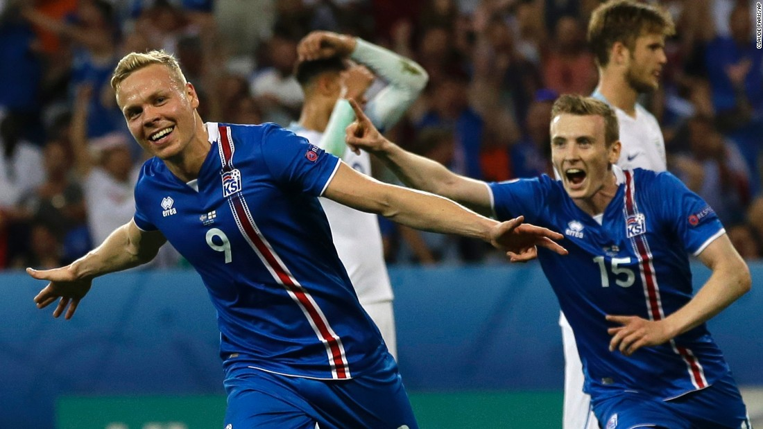 Kolbeinn Sigthorsson's winning goal against England will go down in Icelandic history. The forward's 18th-minute strike ensured his team came from behind to reach the last eight.<br />