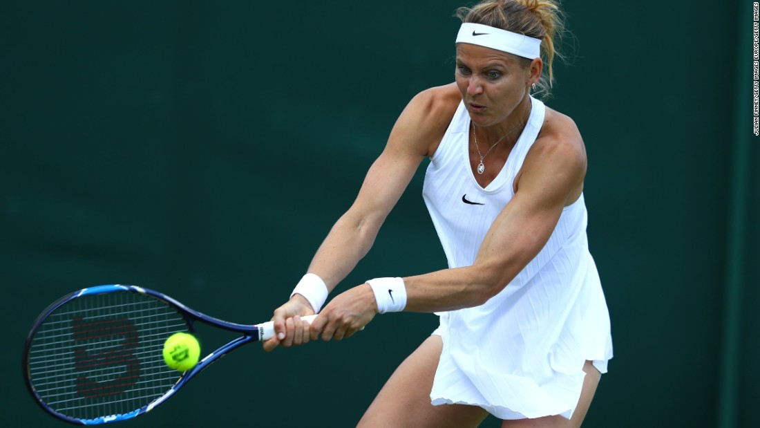 Lucie Safarova of the Czech Republic beat her American doubles partner Bethanie Mattek-Sands in three sets to advance to the second round.