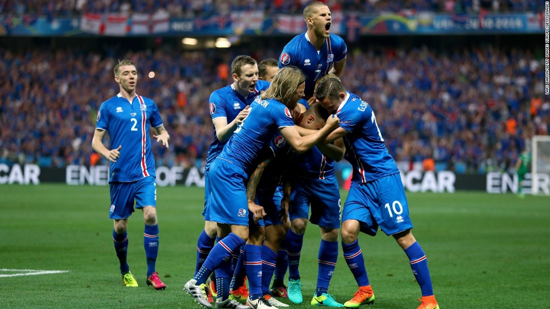 Iceland takes on France in Paris on Sunday after recording a stunning 2-1 win over England to reach the quarterfinals in its very first major international tournament.