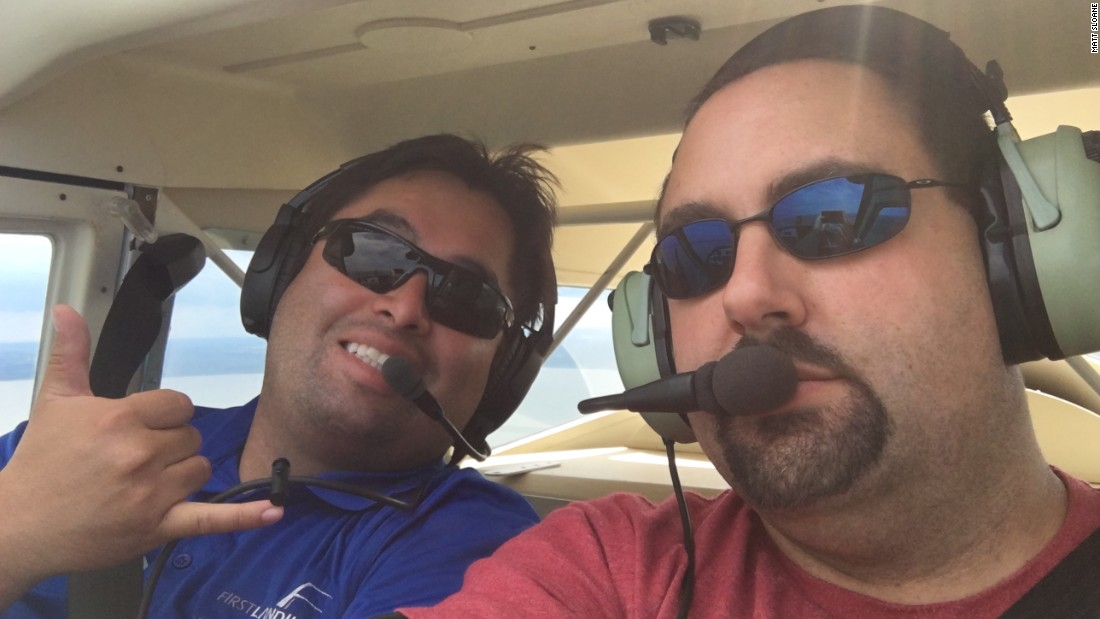 It's possible to become a U.S. certified pilot in just 12 days. With the help of certified flight instructor Etian Contreras, left, Matt Sloane, right, earned a special light sport pilot certificate, which allows him to fly certain types of airplanes under certain conditions.