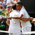 Nick Kyrgios of Australia and  Radek Stepanek WImbledon