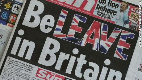 The Sun newspaper on June 14, urging Brits to vote to leave the European Union.