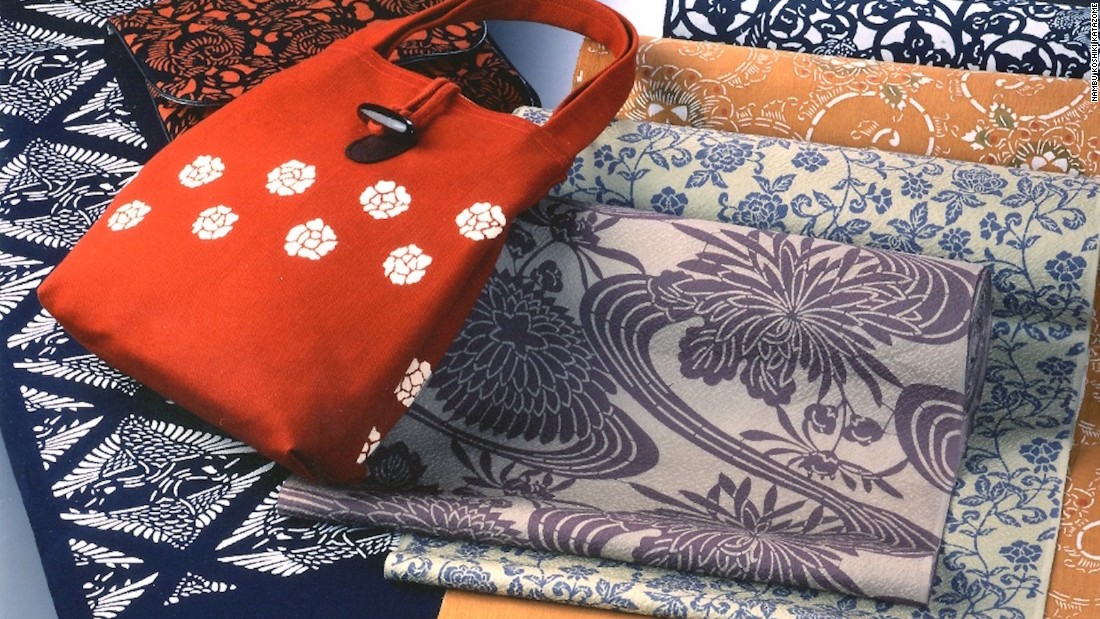 Originally a fashion statement worn mainly by samurai, these funky patterns can now be found on items such as kimonos, bags and wrapping cloths. The production technique, called Nambu kodai katazome, involves using a stencil to create intricate and geometric details.