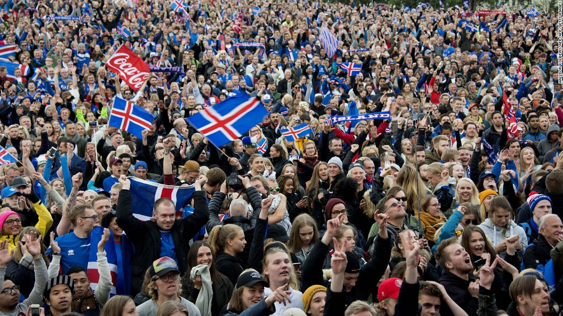 Fans have been celebrating their team's success across the country with big screens being erected in the capital city of Reykjavik.