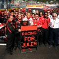 Jules Bianchi racing for jules f1