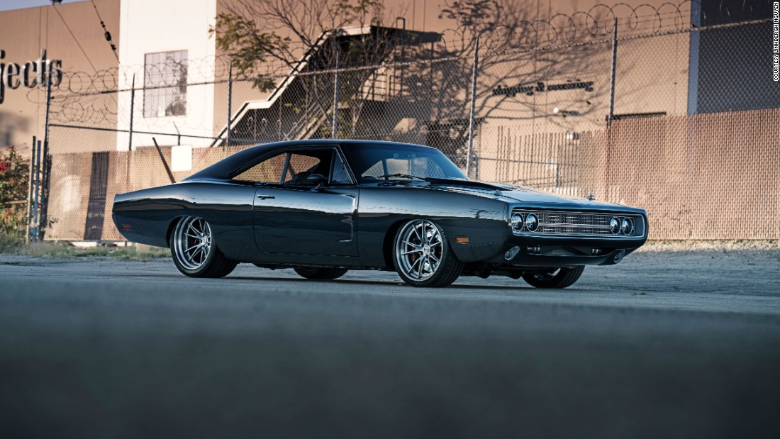 "The frame of this Dodge Charger is incredibly light, thanks to a carbon fiber exterior, but a powerful boat engine -- designed by Mercury Marine -- gives it extra power. In fact, it likely gives more power than the car could ever need, if you ask lead builder David Salvaggio. <br /><br />""The load of an engine from extreme throttling in and out of the water with a boat... is more abuse than any car could ever put on the engine,"" he says."
