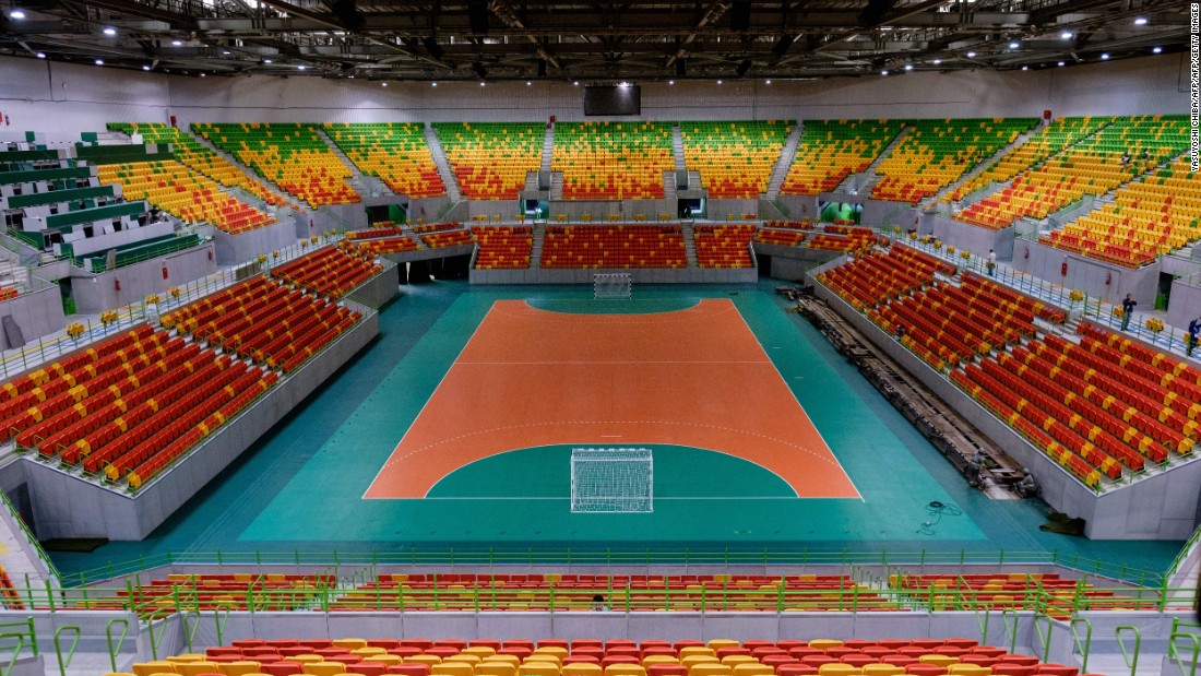 A General View Of Inside The Future Arena At Olympic Park Which Will Host Handball