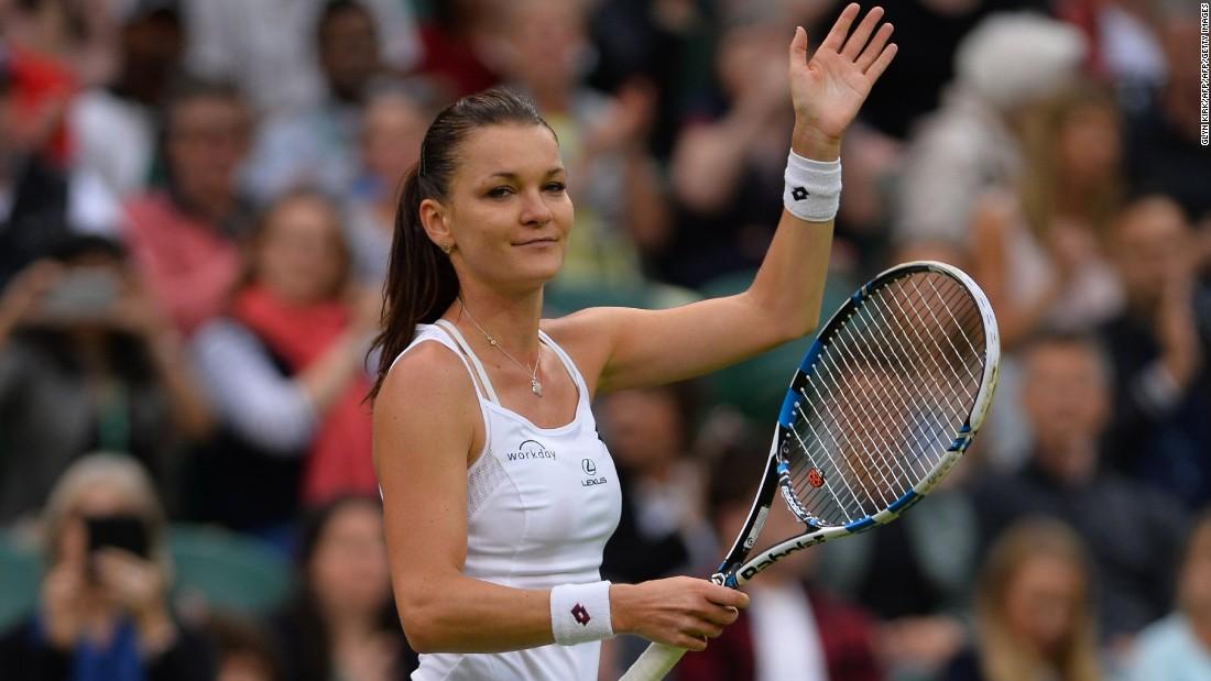 In the women's draw, Agnieszka Radwanska dispatched Ukraine's Kateryna Kozlova 6-2 6-1 during their first round match on Center Court.